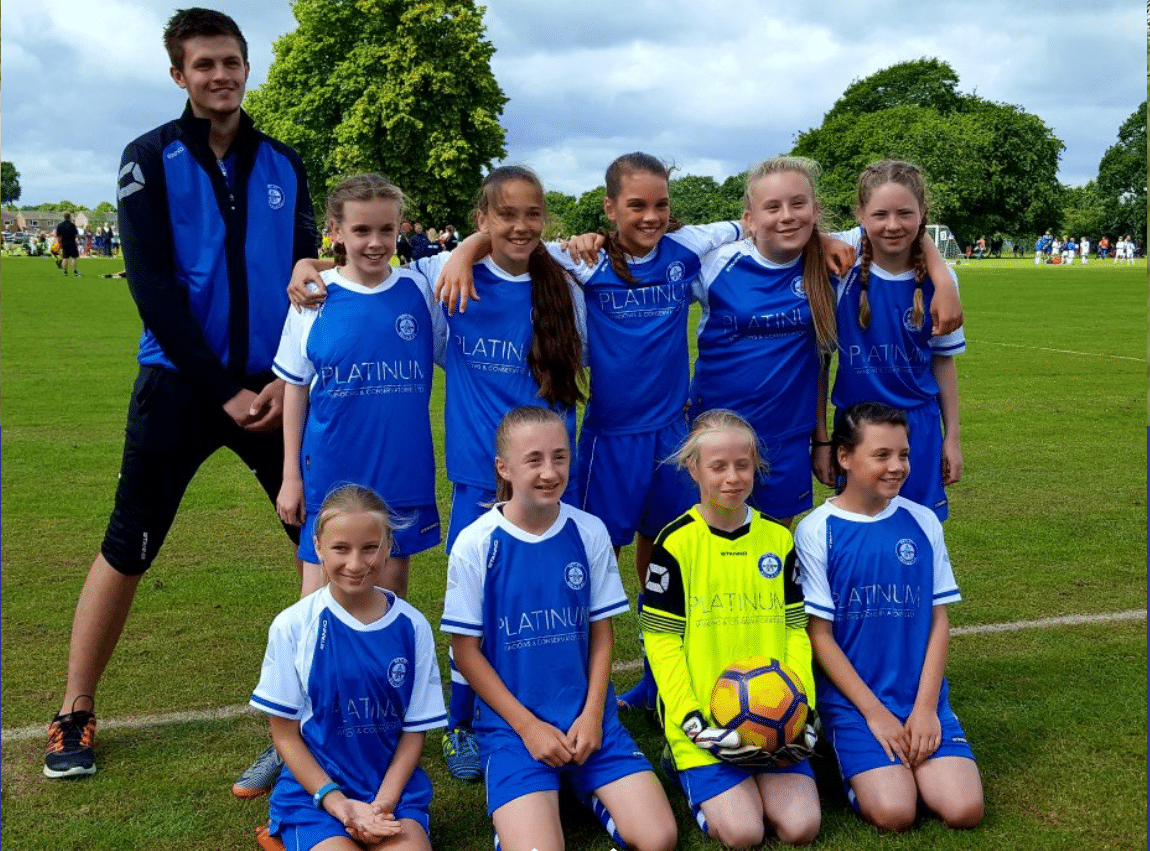 Netley U13 Girls Football Team